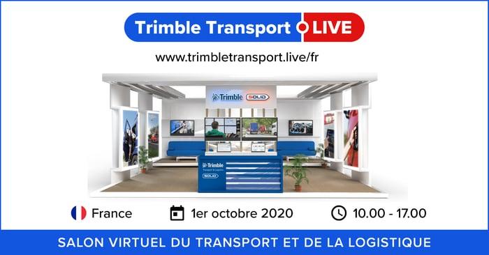 FR Trimble Transport Live 2020 - Social banner Trimble SOLID