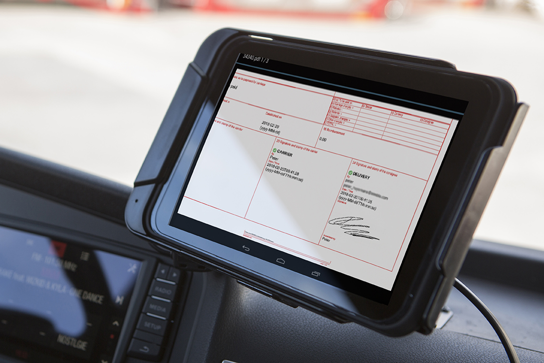 e-CMR - FleetXPS Android Tablet 2 LR