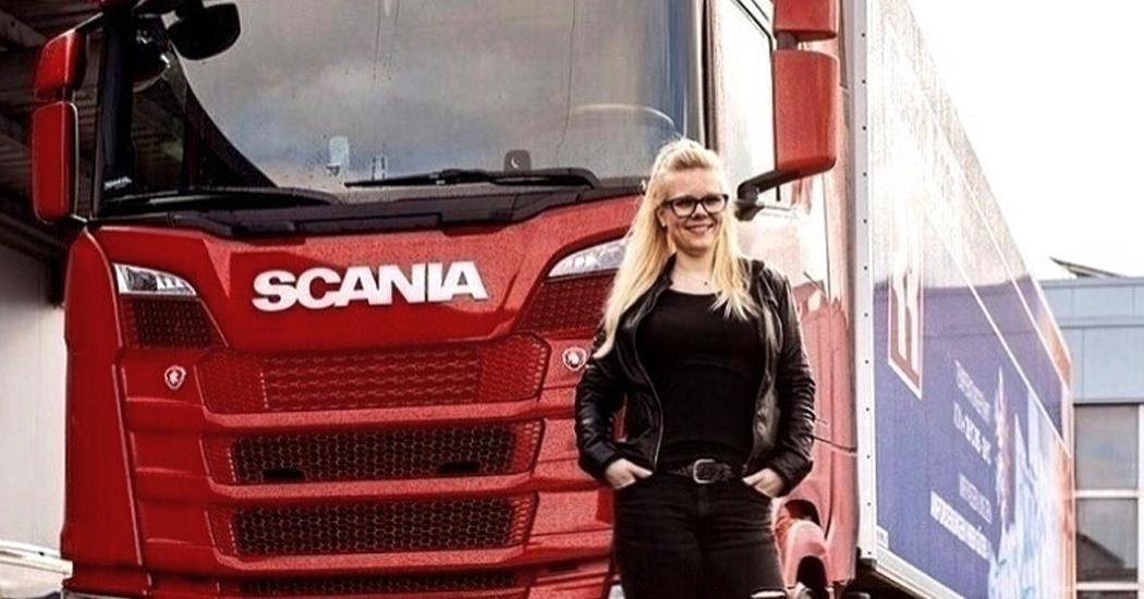 """""""Trucker Babe"""" Manu geht mit Telematik von Trimble auf """"Bauernrunde"""""""