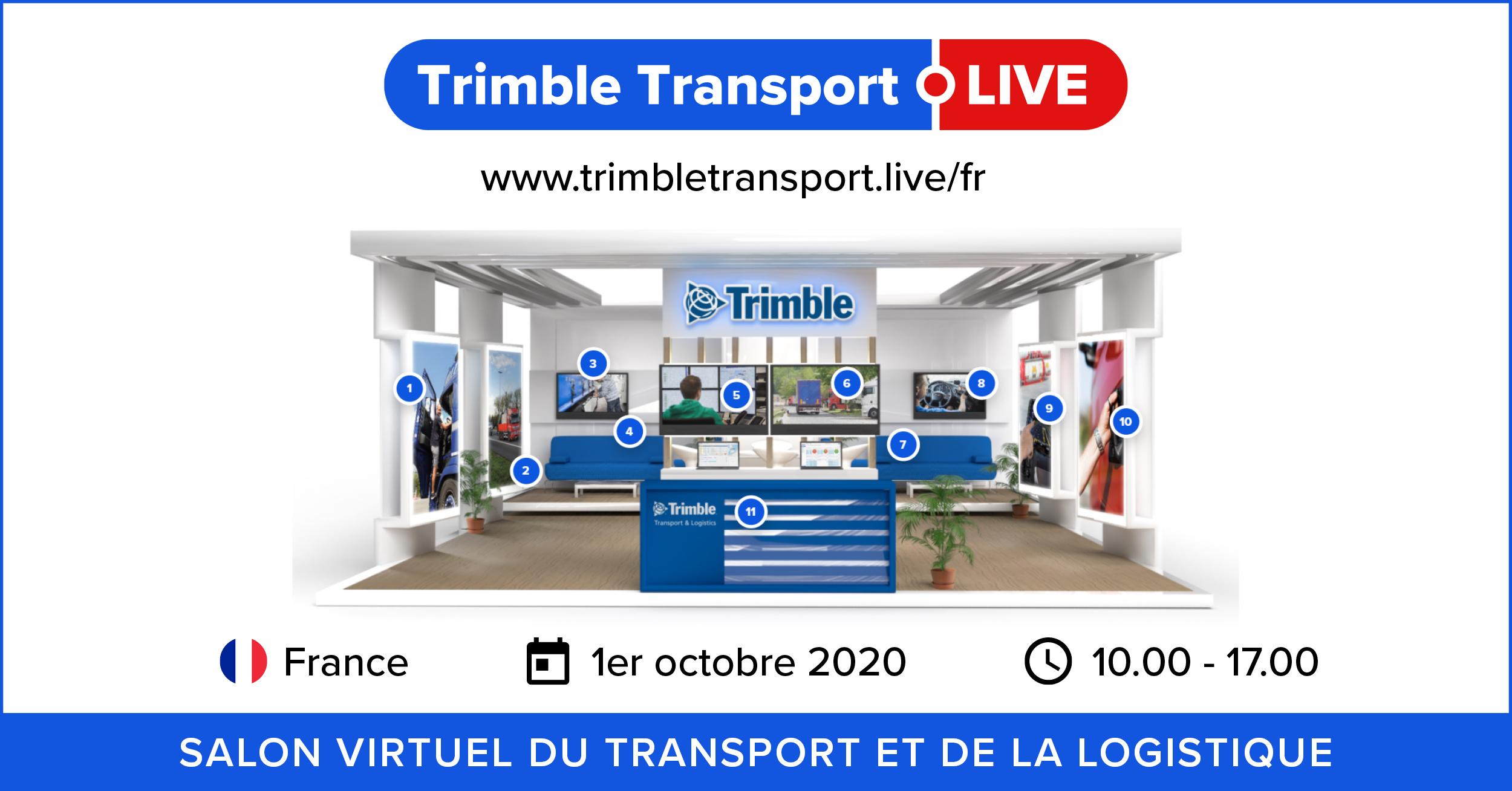 Trimble Transport Live, le salon virtuel du transport et de la logistique
