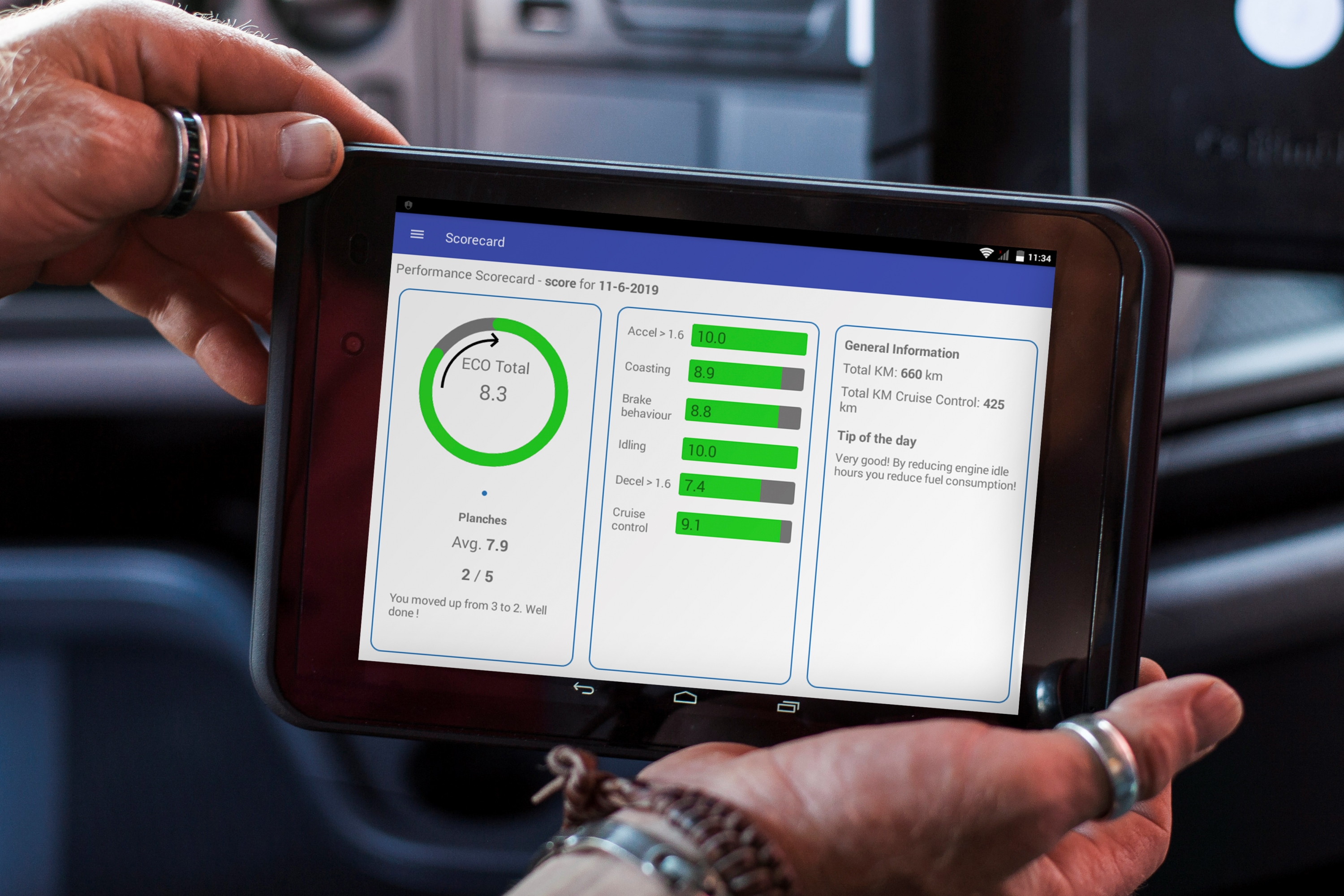 Trimble_Driver_Scorecard_auf_FleetXPS_Tablet